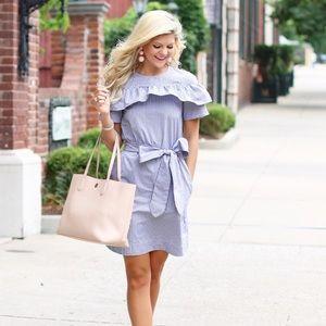 Dresses & Skirts - Ruffled, Bow Tie Dress!
